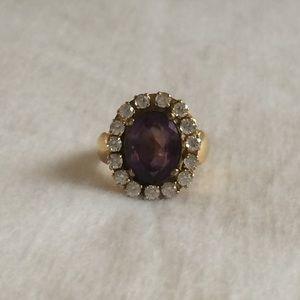 Amethyst & 14k Gold Ring